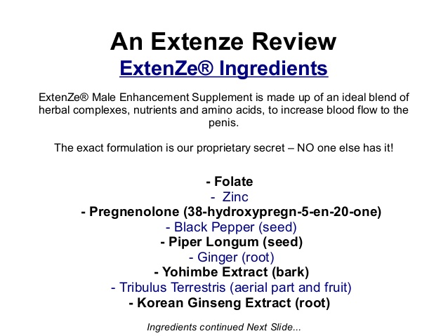 Male Extenze Side Effects