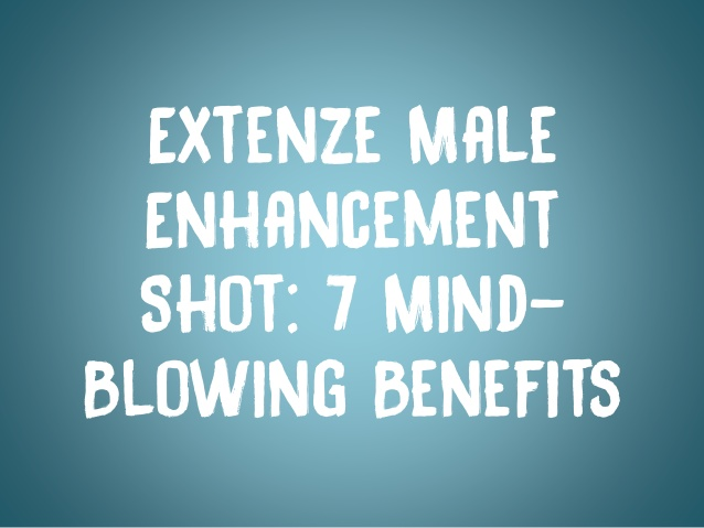 Extenze For Young Guys