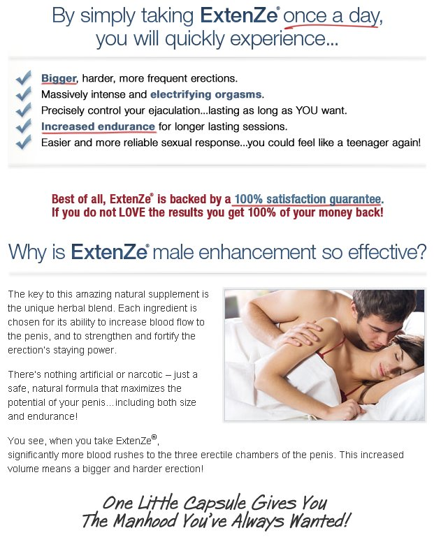 Extenze Users